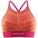 Craft Comfort Low Impact Biustonosz sportowy Kobiety pomarańczowy/różowy